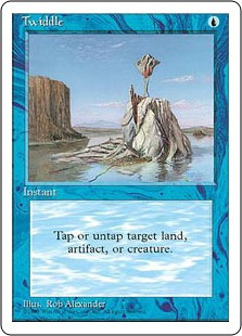 Twiddle  You may tap or untap target artifact, creature, or land.