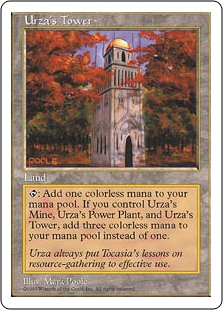 Urza's Tower  : Add . If you control an Urza's Mine and an Urza's Power-Plant, add  instead.