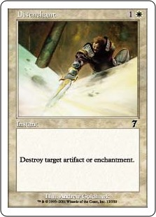 Disenchant  Destroy target artifact or enchantment.