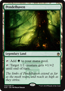 Pendelhaven  : Add .: Target 1/1 creature gets +1/+2 until end of turn.