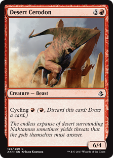 Desert Cerodon  Cycling  (, Discard this card: Draw a card.)