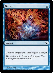 Outwit  Counter target spell that targets a player.