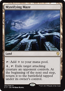 Mystifying Maze  : Add ., : Exile target attacking creature an opponent controls. At the beginning of the next end step, return it to the battlefield tapped under its owner's control.