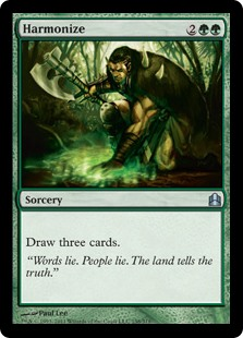 Harmonize  Draw three cards.