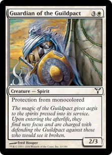 Guardian of the Guildpact  Protection from monocolored