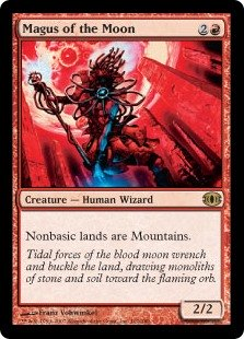 Magus of the Moon  Nonbasic lands are Mountains.