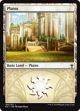 Plains MTG MAGIC GS1 English 12x Pianura