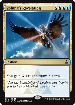 Sphinx's Revelation  You gain X life and draw X cards.