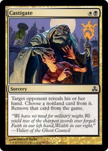 Castigate  Target opponent reveals their hand. You choose a nonland card from it and exile that card.