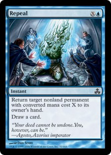Repeal  Return target nonland permanent with converted mana cost X to its owner's hand.Draw a card.