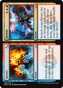 Invert/Invent  Switch the power and toughness of each of up to two target creatures until end of turn.