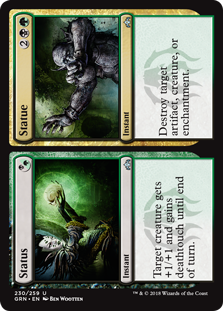 Status/Statue  Target creature gets +1/+1 and gains deathtouch until end of turn.