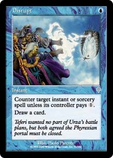 Disrupt  Counter target instant or sorcery spell unless its controller pays .Draw a card.