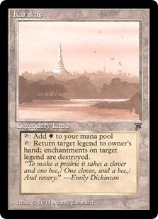 Karakas  : Add .: Return target legendary creature to its owner's hand.