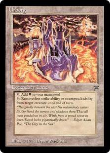 Urborg  : Add .: Target creature loses first strike or swampwalk until end of turn.