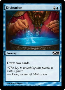 Divination  Draw two cards.