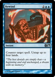 Rewind  Counter target spell. Untap up to four lands.