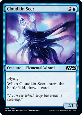 Cloudkin Seer  FlyingWhen Cloudkin Seer enters the battlefield, draw a card.