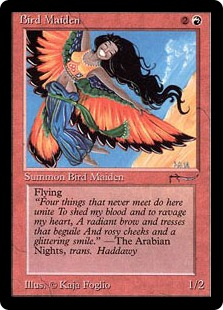 Bird Maiden  Flying