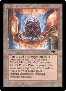 Urza's Power Plant  : Add . If you control an Urza's Mine and an Urza's Tower, add  instead.