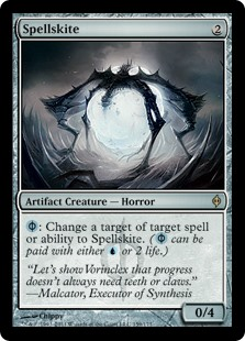 Spellskite  : Change a target of target spell or ability to Spellskite. ( can be paid with either  or 2 life.)