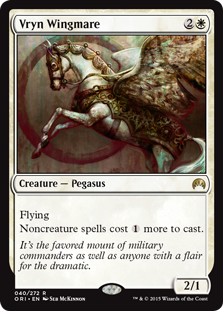 Vryn Wingmare  FlyingNoncreature spells cost  more to cast.
