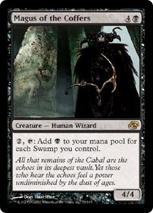 Magus of the Coffers  , : Add  for each Swamp you control.