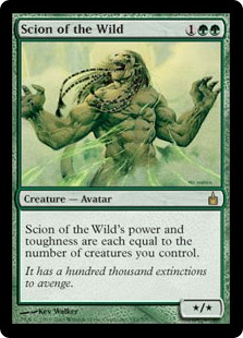 Scion of the Wild  Scion of the Wild's power and toughness are each equal to the number of creatures you control.