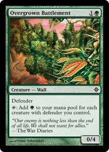Overgrown Battlement  Defender: Add  for each creature with defender you control.