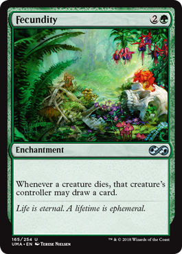 Fecundity  Whenever a creature dies, that creature's controller may draw a card.