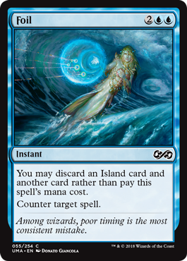 Foil  You may discard an Island card and another card rather than pay this spell's mana cost.Counter target spell.