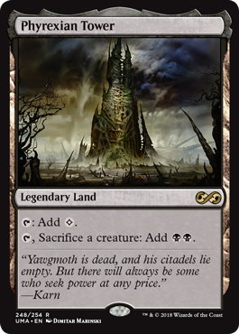 Phyrexian Tower  : Add ., Sacrifice a creature: Add .