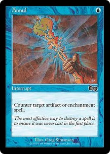 Annul  Counter target artifact or enchantment spell.
