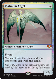 Platinum Angel  FlyingYou can't lose the game and your opponents can't win the game.