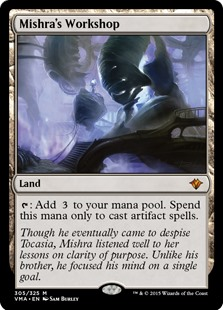 Mishra's Workshop  : Add . Spend this mana only to cast artifact spells.