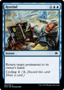 Rescind  Return target permanent to its owner's hand.Cycling  (, Discard this card: Draw a card.)