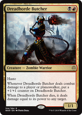 ≫ MTG Dreadhorde Butcher card prices and decks September